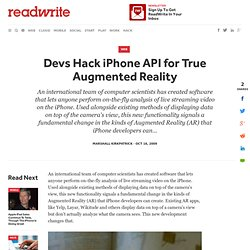 Devs Hack iPhone API for True Augmented Reality