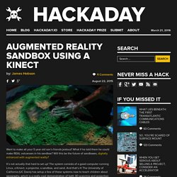 Augmented Reality Sandbox Using a Kinect