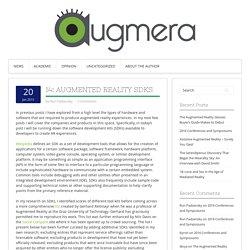 14: Augmented Reality SDKs