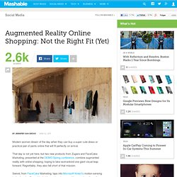 Augmented Reality Online Shopping: Not the Right Fit (Yet)