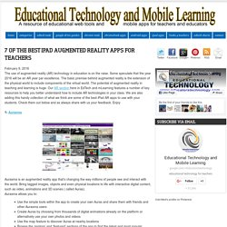 7 of The Best iPad Augmented Reality Apps for Teachers