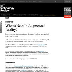 Technology Review: Blogs: TR Editors' blog: What's Nex
