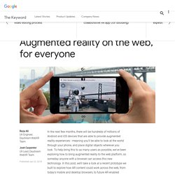Augmented reality on the web, for everyone