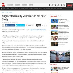 Augmented reality windshields not safe: Study
