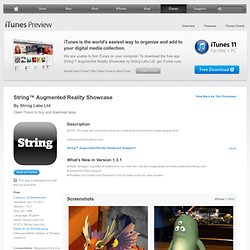 String™ Augmented Reality Showcase for iPhone, iPod touch (4th generation), iPad 2 Wi-Fi, iPad 2 Wi-Fi + 3G, iPad (3rd generation) and iPad Wi-Fi + 4G on the iTunes App Store