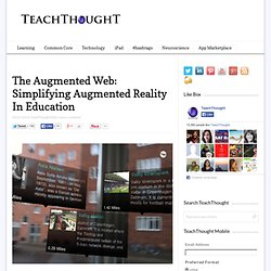 The Augmented Web: Simplifying Augmented Reality In Education