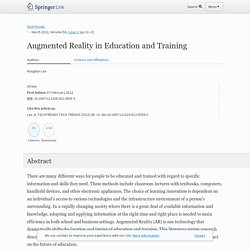 Augmented Reality in Education and Training
