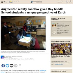 Augmented reality sandbox gives Bay Middle School students a unique perspective of Earth