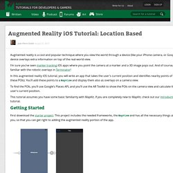 Augmented Reality iOS Tutorial: Location Based - Ray Wenderlich
