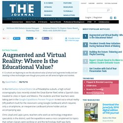 Augmented and Virtual Reality: Where Is the Educational Value?