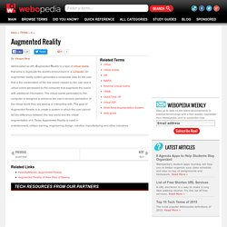 What is Augmented Reality? Webopedia Definition