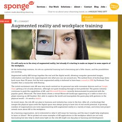 Augmented reality and workplace training