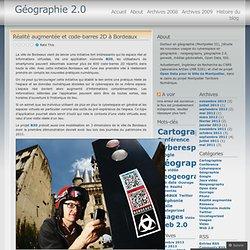 Réalité augmentée et code-barres 2D à Bordeaux