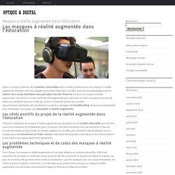 Les masques à réalité augmentée dans l'éducation Lunette pour ordinateur