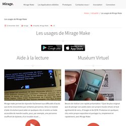 Mirage – réalité augmentée et virtuelle pour l'enseignement