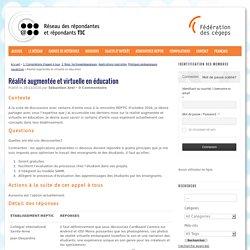 Réalité augmentée et virtuelle en éducation