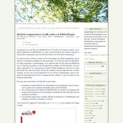 Réalités augmentées et QR codes en bibliothèque