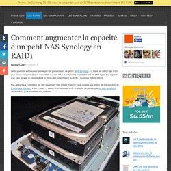 Comment augmenter la capacité d'un petit NAS Synology en RAID1