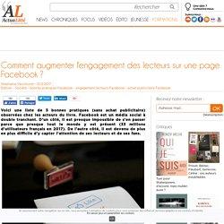Comment augmenter l'engagement des lecteurs sur une page Facebook ?