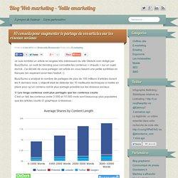 Conseils pour augmenter le partage de vos articles sur les réseaux sociaux