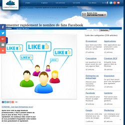 Augmenter rapidement le nombre de fans Facebook