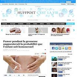Fumer pendant la grossesse augmenterait la probabilité que l'enfant soit homosexuel