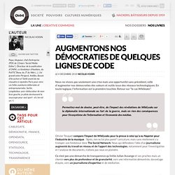 Augmentons nos démocraties de quelques lignes de code » Article » OWNI, Digital Journalism