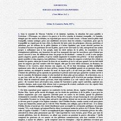 Lex Ogulnia de auguribus et pontificibus ( Trad. française )