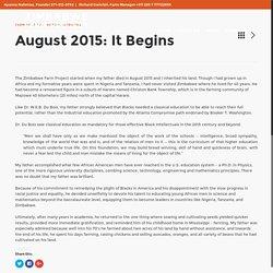 August 2015: It Begins – Zimbabwe Farm Project