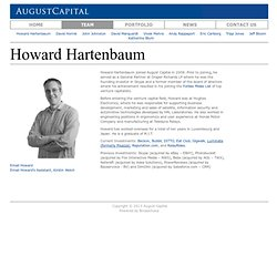 August Capital - Howard Hartenbaum - (Build 20100722150226)