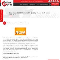 Top September 2020 GK Quiz by Best SSC CGL Online Coaching