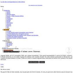 Lettre d'Auguste Rodin à Camille Claudel - Des Lettres