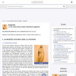 Auguste en latin Caius Julius Caesar Octavianus Augustus