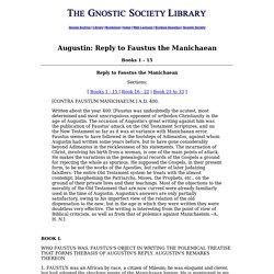 Augustin: Contra Faustum Books 1 - 15