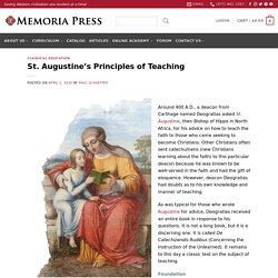 St. Augustine's Principles of Teaching
