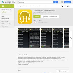 Aujourd'hui dans l'histoire – Applications Android sur GooglePlay