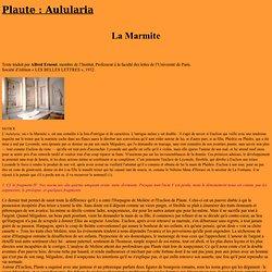 Aulularia ou la Marmite de Plaute
