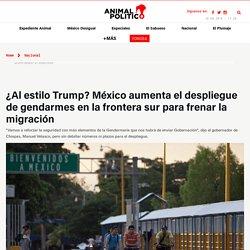 México aumenta número de gendarmes en la frontera sur