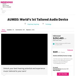 AUMEO: Worlds 1st Tailored Audio Device