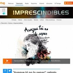 """""""Aunque tú no lo sepas"""": retrato del poeta Luis García Montero"""