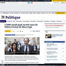 L'UMP aurait payé 24 000 euros de billets d'avion de Mme Copé