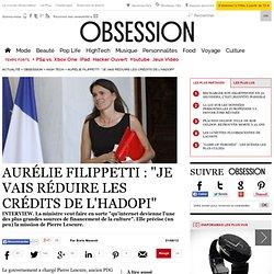 """Aurélie Filippetti : """"Je vais réduire les crédits de l'Hadopi"""""""