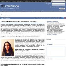 Aurélie de Mattéis : Plaisirs des mots à l'heure numérique