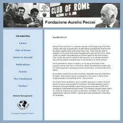 Aurelio Peccei - Introduction