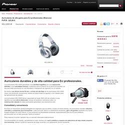 HDJ-2000-W Auriculares de alta gama para DJ profesionales (Blancos) - Pioneer Auriculares DJ