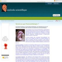 Qu'est-ce que l'Auriculothérapie ? - auriculo-scientifique