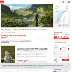 Randonnées dans la vallée Aurlandsdalen