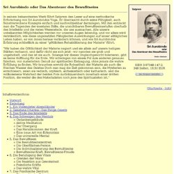 Sri Aurobindo oder Das Abenteuer des Bewußtseins