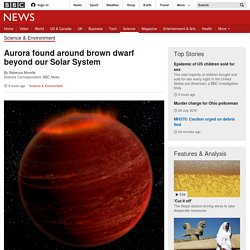 Aurora found around brown dwarf beyond our Solar System
