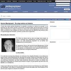 Aurore Maciejczack : Du stop motion en histoire